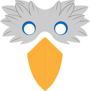 Bird beak mask clipart