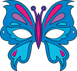 Butterfly mask clipart