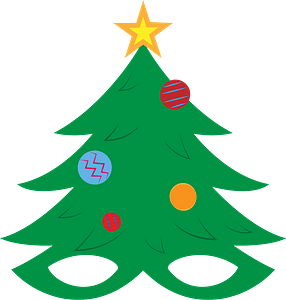 Christmas tree mask clipart