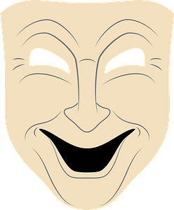 Comedy mask clipart