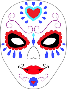 Day of the dead mask clipart