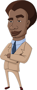African-american businessman clipart
