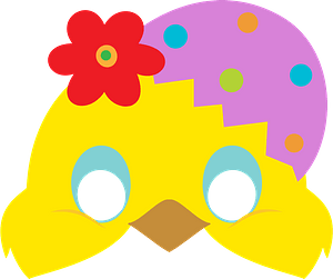 Easter chick mask clipart