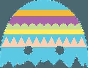 Easter egg mask clipart