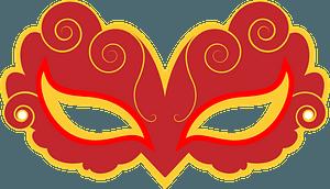 Elizabethan mask clipart