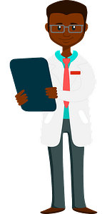 Male doctor clipart