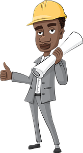 Architect engineer clipart