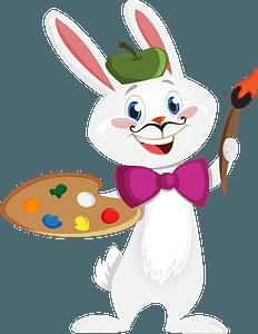 Bunny artist clipart