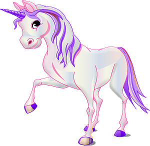 Cartoon unicorn clipart