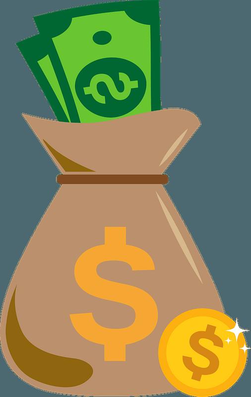 Money bag clipart. Free download transparent .PNG   Creazilla