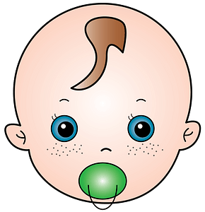 Baby with a pacifier clipart