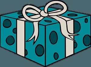 Blue gift box clipart