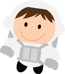 Child astronaut clipart
