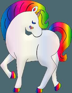 Rainbow unicorn clipart