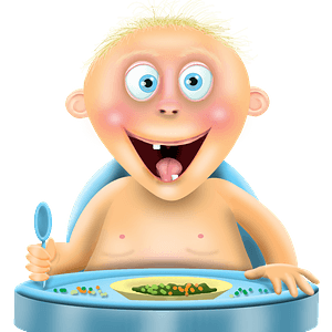 Baby eating clipart