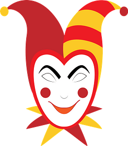 Jester mask clipart