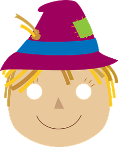 Scarecrow mask clipart