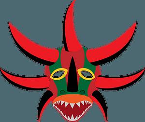 Vejigante mask clipart