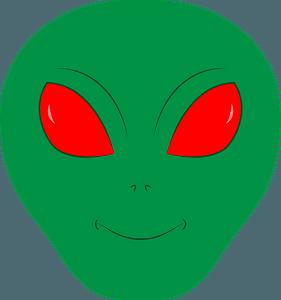 Alien face clipart