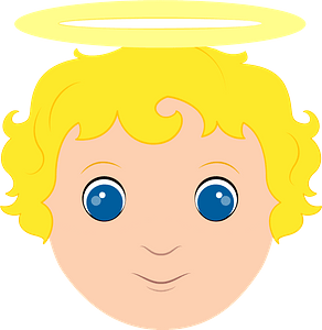 Angel face clipart
