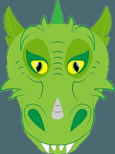 Dragon face clipart