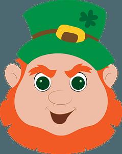 Leprechaun face clipart