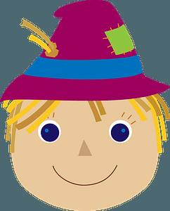 Scarecrow face clipart