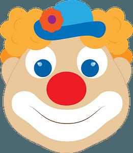 Clown face clipart