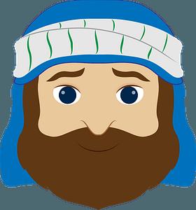 Joseph face clipart