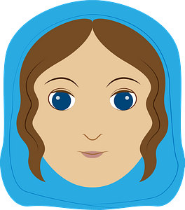 Mary face clipart