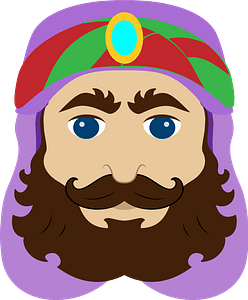 One of the Three Wisemen face clipart
