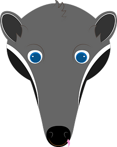 Anteater face clipart
