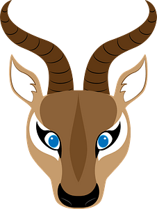 Antelope face clipart