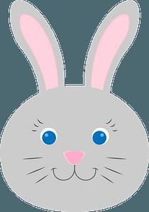 Bunny face clipart