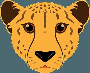 Cheetah face 클립 아트
