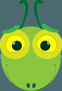 Cricket face clipart