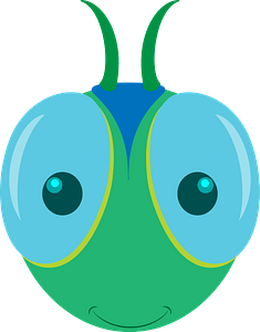 Dragonfly face clipart