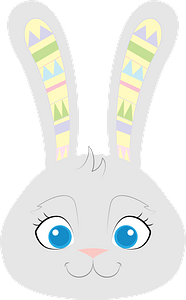 Easter bunny face clipart