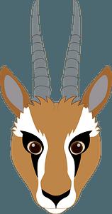 Gazelle face clipart
