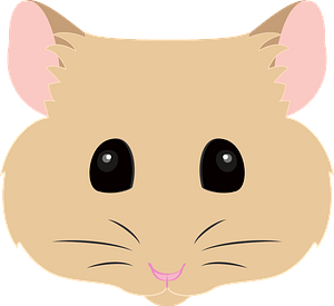 Hamster face clipart