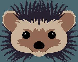 Hedgehog face clipart