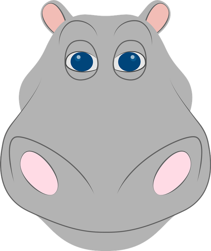 Hippo face clipart. Free download transparent .PNG | Creazilla