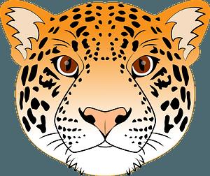 Jaguar face 클립 아트