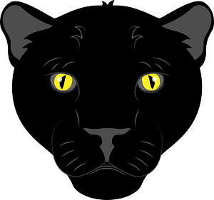 Panther face clipart