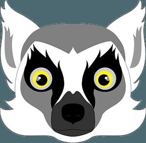 Lemur face clipart