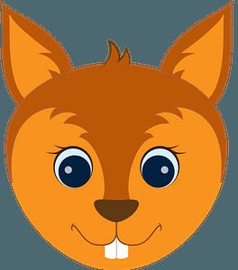 Squirrel face clipart