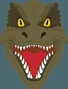 T rex face clipart