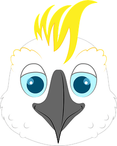 Cockatoo face clipart