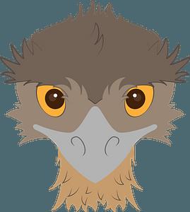 Emu face clipart