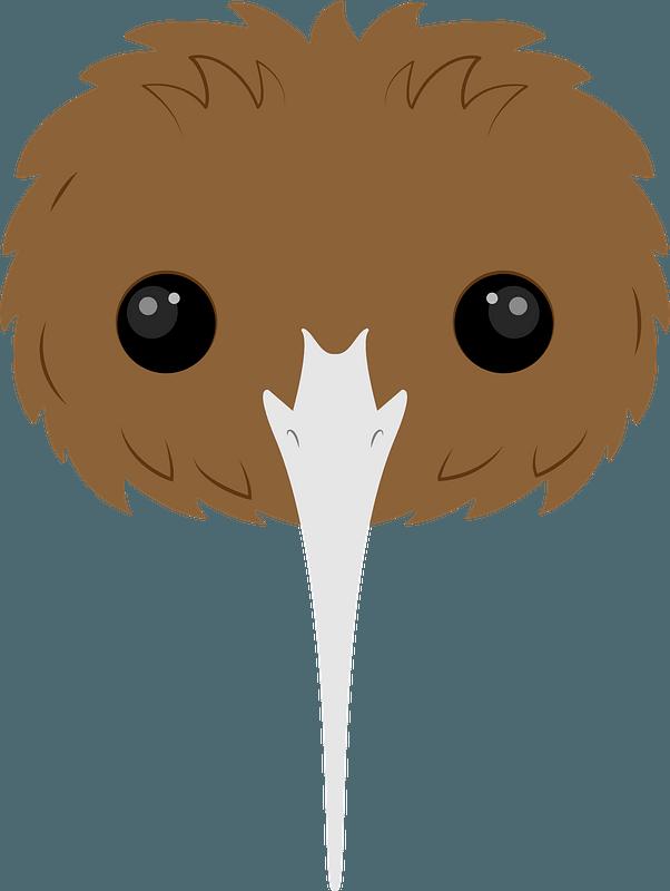 Kiwi bird face clipart